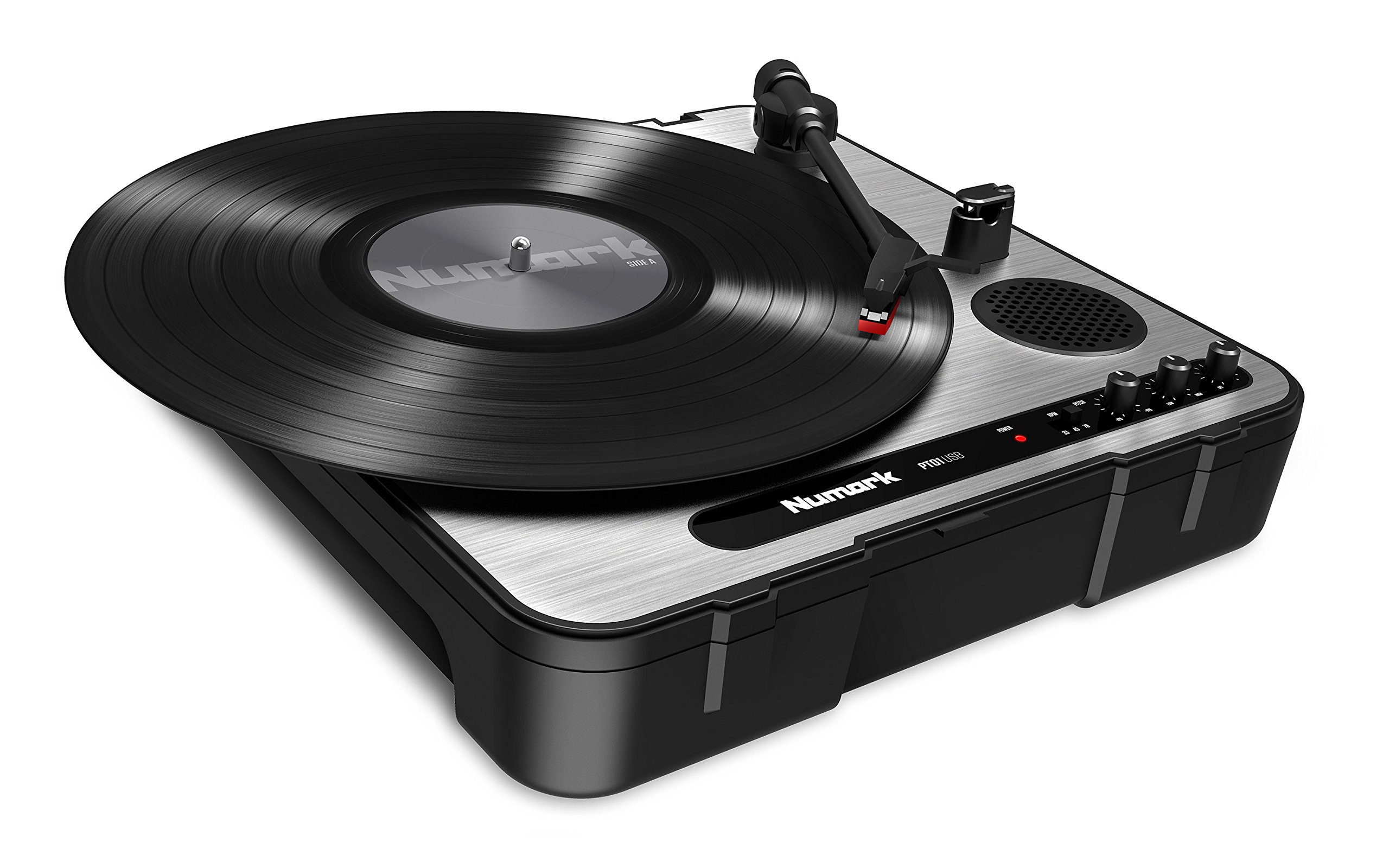 Numark PT01USB   Portable Vinyl-Archiving Turntable for 33 1/3, 45, & 78 RPM Records