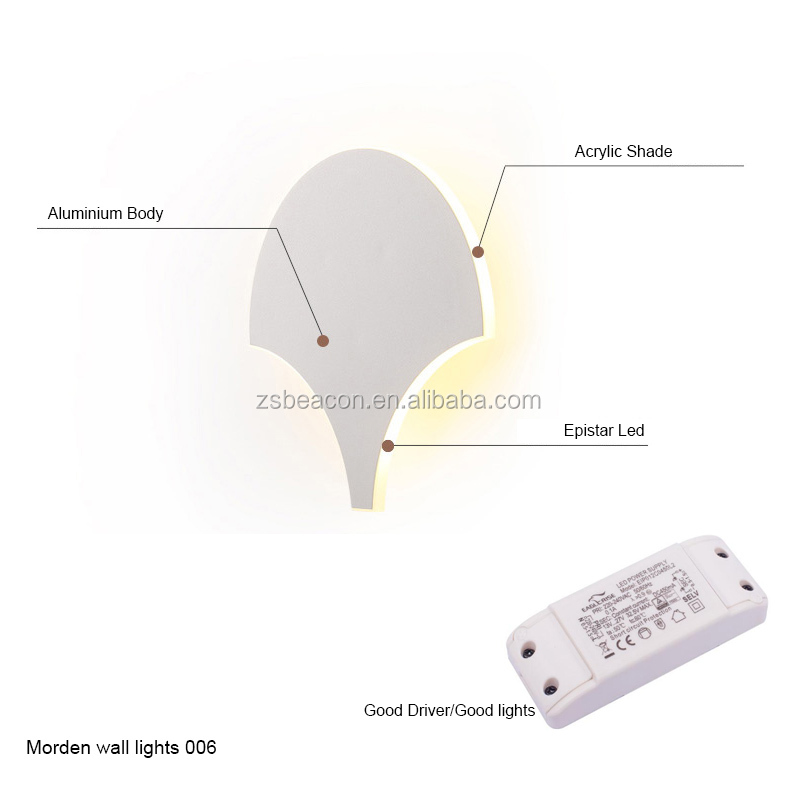 specialty customization new dimmer modern style sector fan-shaped led wall lamp hotel