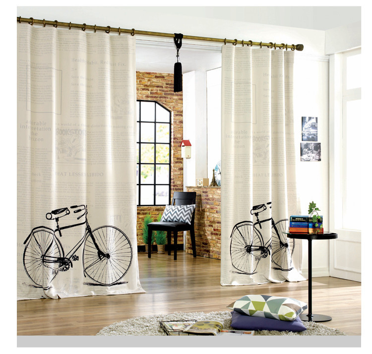 2015 fahrrad design moderne vorh nge f r kinder cartoon schlafzimmer k che vorhang t rvorhang in. Black Bedroom Furniture Sets. Home Design Ideas