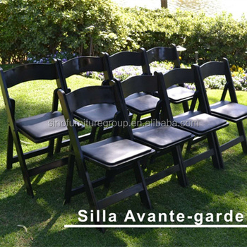 Black Wooden Padded Folding Chair, Used Wedding Folding Chairs