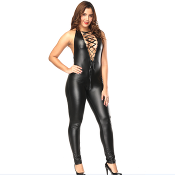 Sexo con caballo sexy costume fetish leather catsuit women