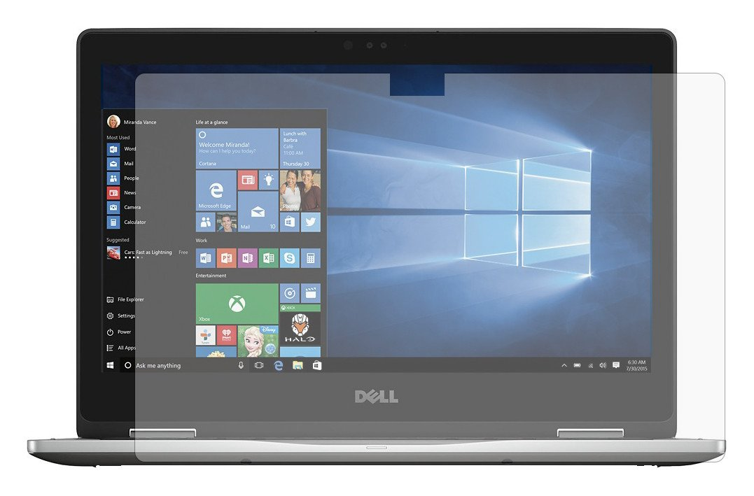 """PcProfessional Screen Protector (Set of 2) for Dell Inspiron 13 5000 series 5368 13.3"""" 2 in 1 Touch Screen Laptop High Clarity Anti Scratch"""