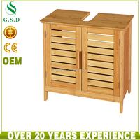 wholesale bamboo bathroom furniture sink cabinet storage