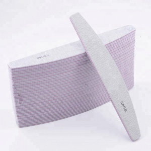 OEM High Quality Japan Sandpaper Saw Shape Half Moon Zebra Nail File 180 240 wholesale