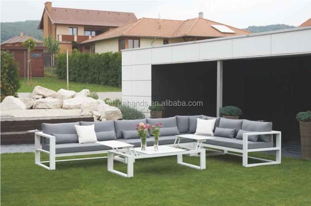 Ma Ga03 Aluminium White Modern Outdoor Sectional Sofa Set   Buy Aluminium  Outdoor Sofa,Modern Outdoor Sofa Set,Modern Metal Sofa Set Product On  Alibaba.com