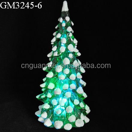 Factory direct sell green LED acrylic Christmas tree crafts