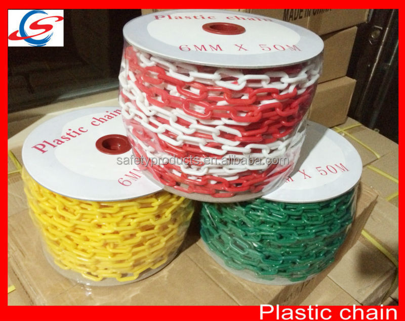 6mm coloured safety roller barrier chain warning caution plastic chain