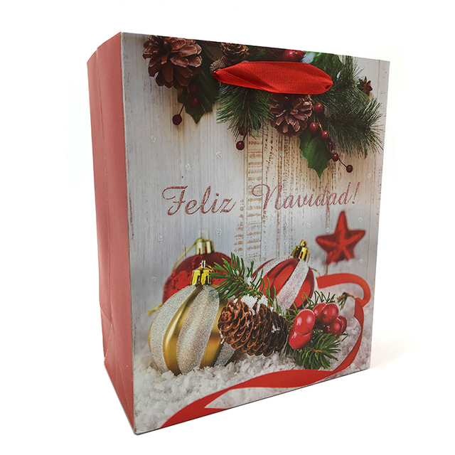Cheap Online Wholesale Christmas Luxury Gift Handle Paper Bag