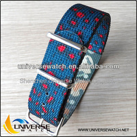 Sale high quality beautiful flower color change watch bands nylon strap watch