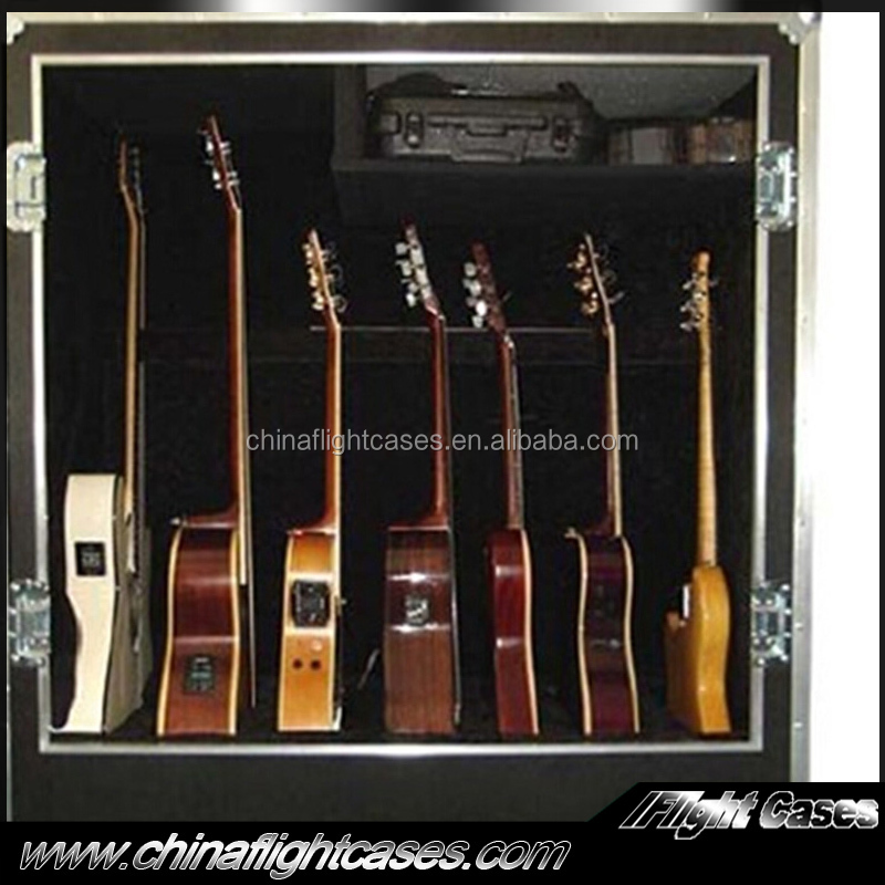 Multiple Guitar Transport Carrying Road Case for 10 Guitars