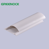Light weight curve round type pvc cover protector floor wiring cable duct network half moon pvc cable casing