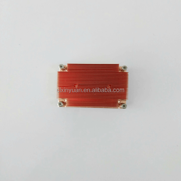 New products car parts copper material heat sink for heat dissipation