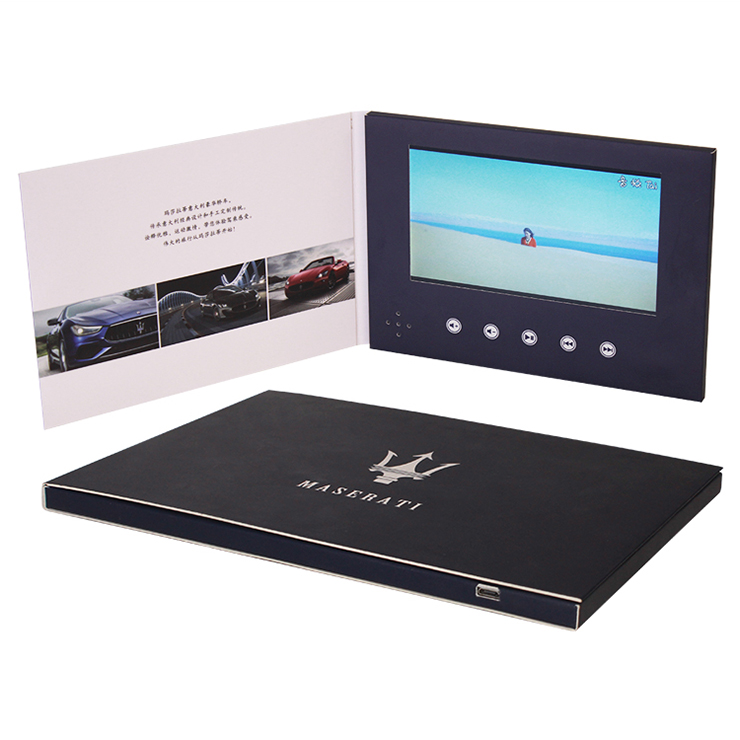 China Custom Witte Lege Kleur Lcd-scherm Card/Video Wenskaart/Video Brochure