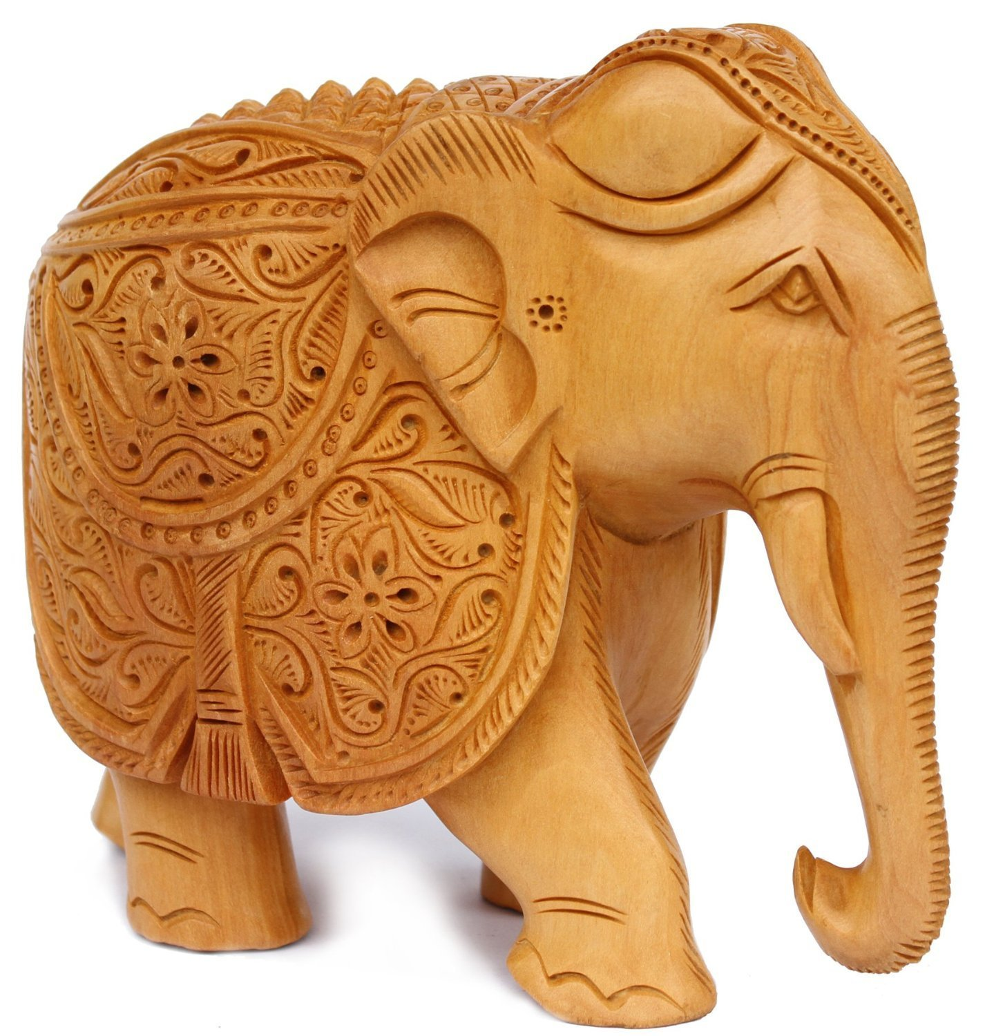 Best Valentines Day Gifts Elephant Decor Hand Carved Statue Wooden Collectible Figurine Sculpture Figure