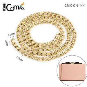 Metal Gold Plated Flat Iron Tote Handbag Chain For Purse Strap
