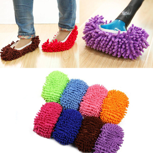 1 pairs Dust Mop Slipper Dust Cleaner Grazing Slippers House Bathroom Floor Cleaning Mop Slipper Lazy Shoes drop shipping