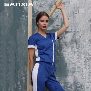 new style nurse uniform standard textile scrubs