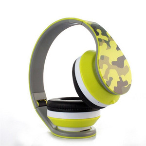 Camouflage Sport Super Bass Stereo Wireless Headphone With Card Function And FM Radio