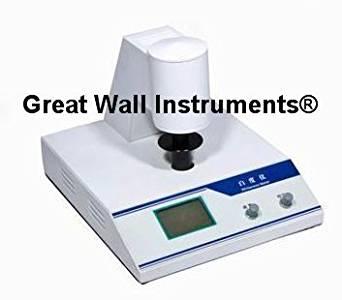 Desktop Digital Whiteness Meter leucometer white colour Tester