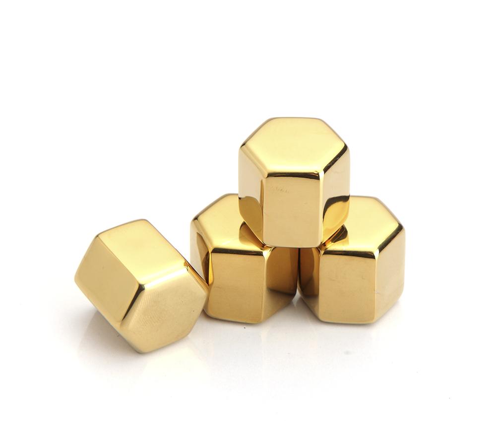 Hexagonal Shape Reusable Ice Cubes Stainless Steel 304