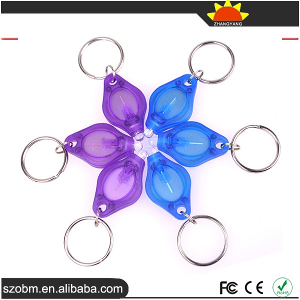 Promotional Plastic Green Light Led Keychain Creative Keychain Light