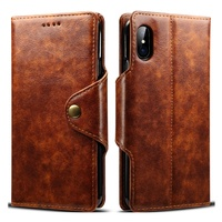 Factory for iPhone XS PU Leather Wallet Phone Case with Card Holder Kickstand Protective Flip Cover