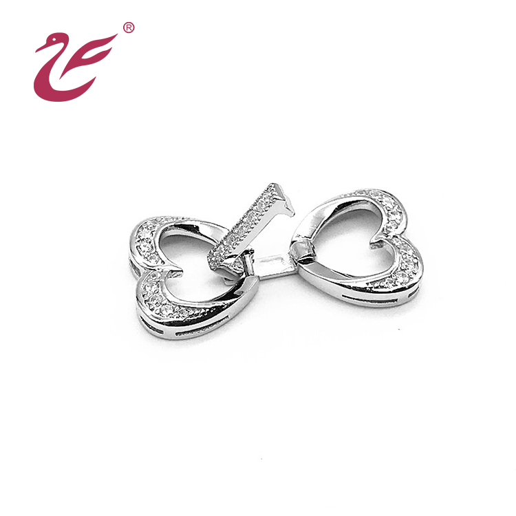 Valentine's day custom decorative jewelry 925 sterling silver box clasps
