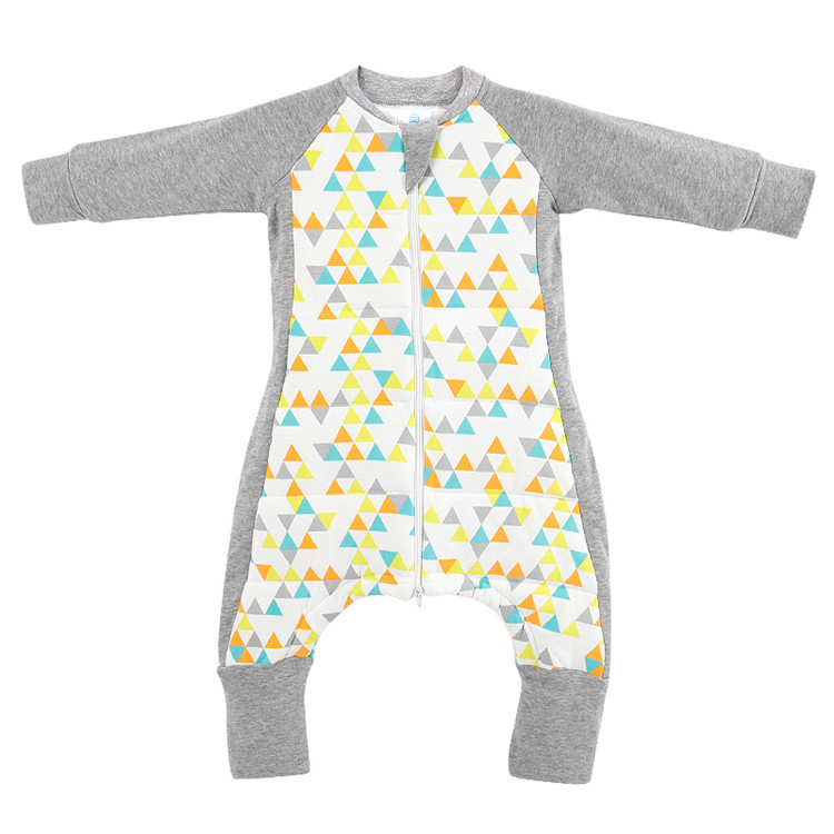 Baby warm organic cotton romper with feet long sleeve baby jumpsuit