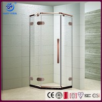 2017 UK design classcial frameless Diamond hinged Shower enclosure KK3327