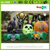 halloween inflatable pumpkim with ghost haunted house halloween props