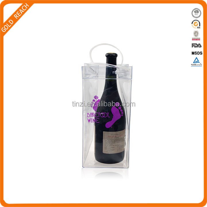Portable Barefoot Wine PVC Wine Cooler Bag