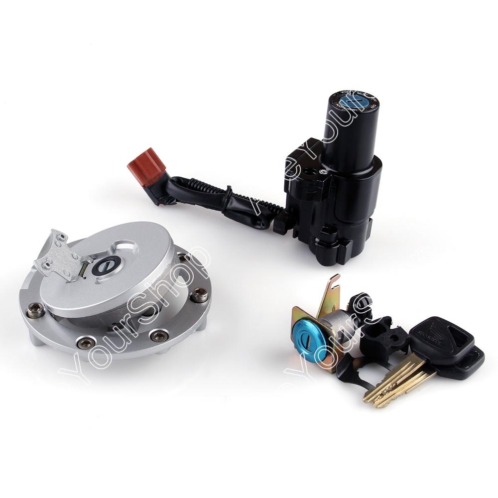 Мотоцикл замок зажигания замок и топливного газа кап комплект ключей для Honda CBR1000RR 2004 - 2007 # TT703