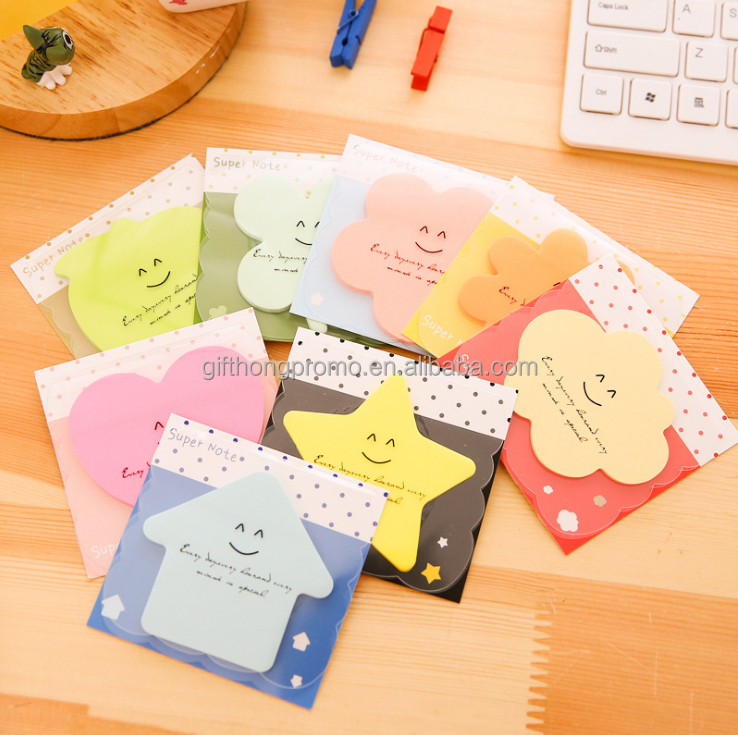Cheap shrink wrapping cute sticky memo pad