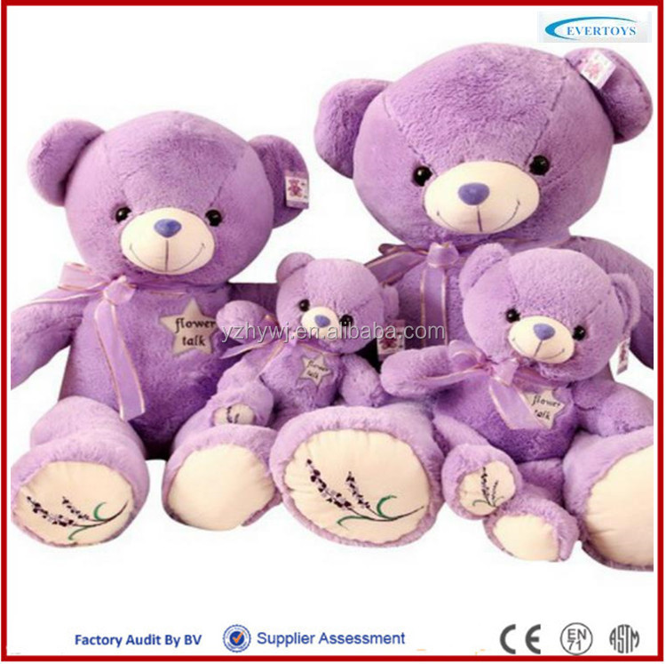 cheap custom plush toy purple teddy bear buy toys from china