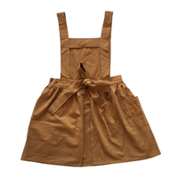 2018 newest design lovely dressy aprons in linen and cotton blend fabric for kids children