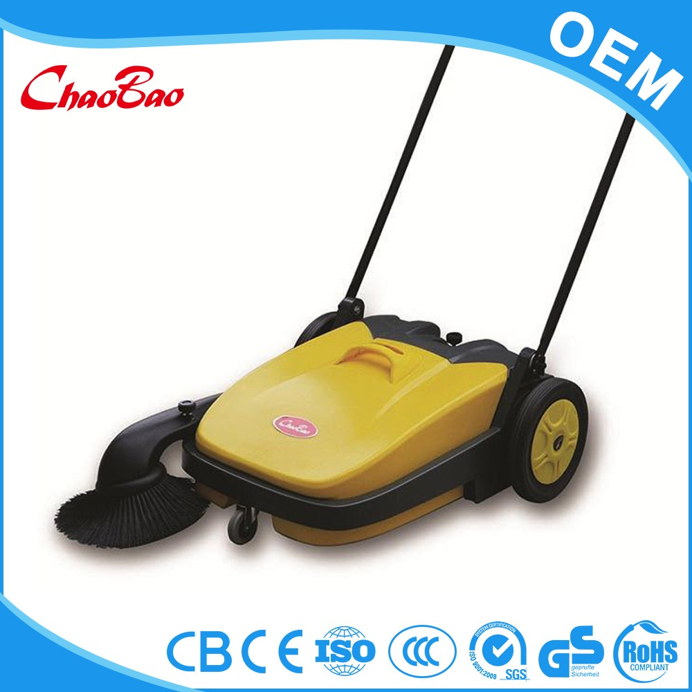 Hand push tennis court sweeper handle sweeping machine collapsable