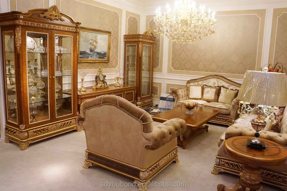 0062 Italian Luxury Living Room Furniture, New Model Wooden Classic Sofa  Sets Part 62