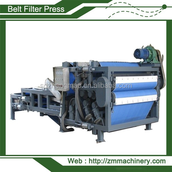 Shuangfa horizontal belt filter press for mineral slurry and selected coal washing mud0086 86677065