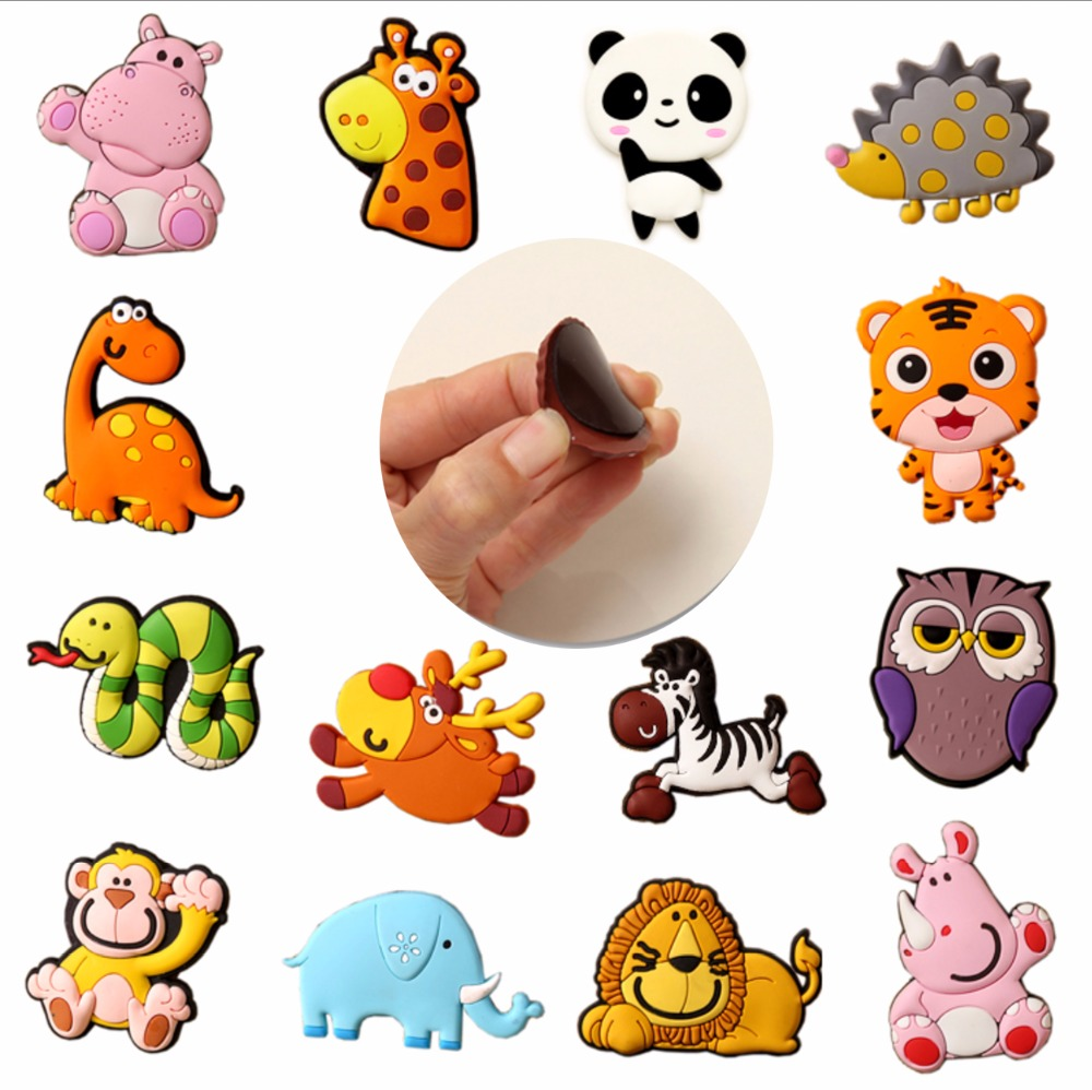 Custom animals bottle opener soft PVC 3D rubber paper vinyl refrigerator magnetic sticker fridge magnet