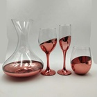 hot sale copper color glass decanter and red wine glass set