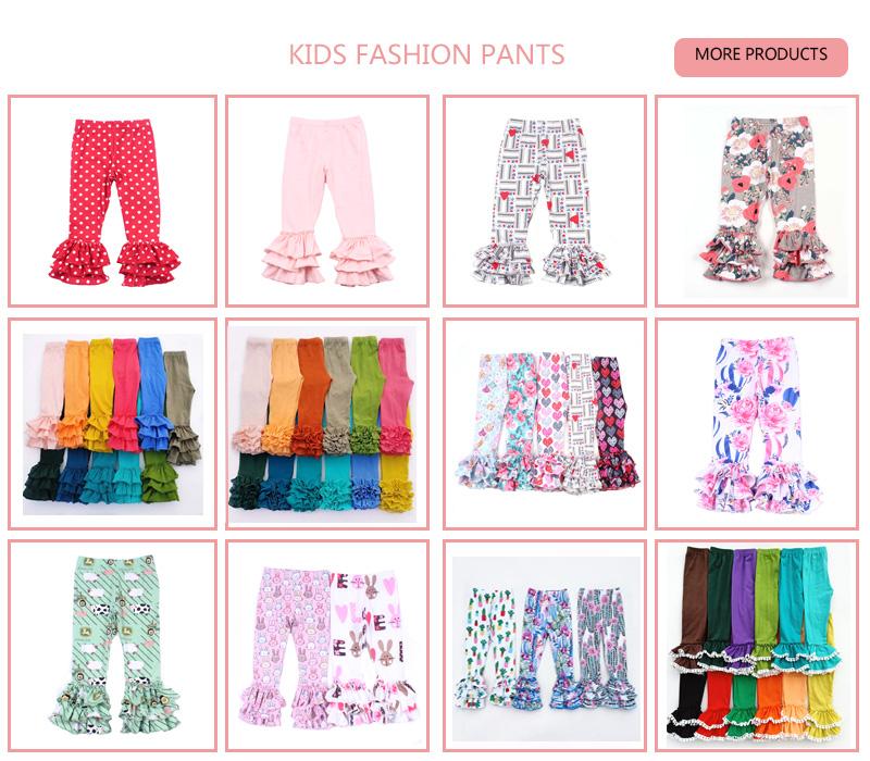 Groothandel gedrukt icing baby meisjes katoen ruffle kids boutique leggings broek