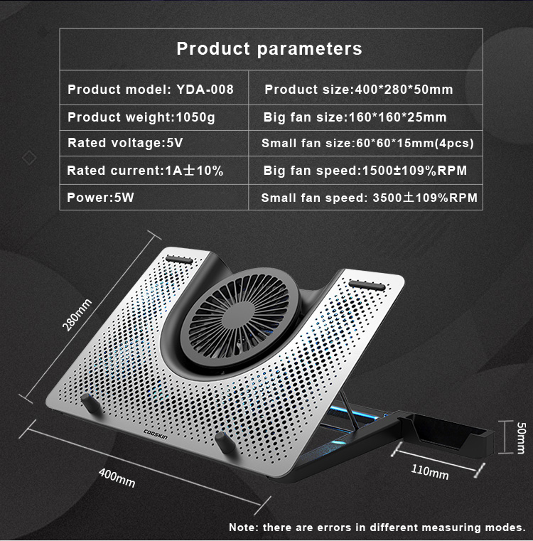 Notebook Cooling Pad with Built in Fans