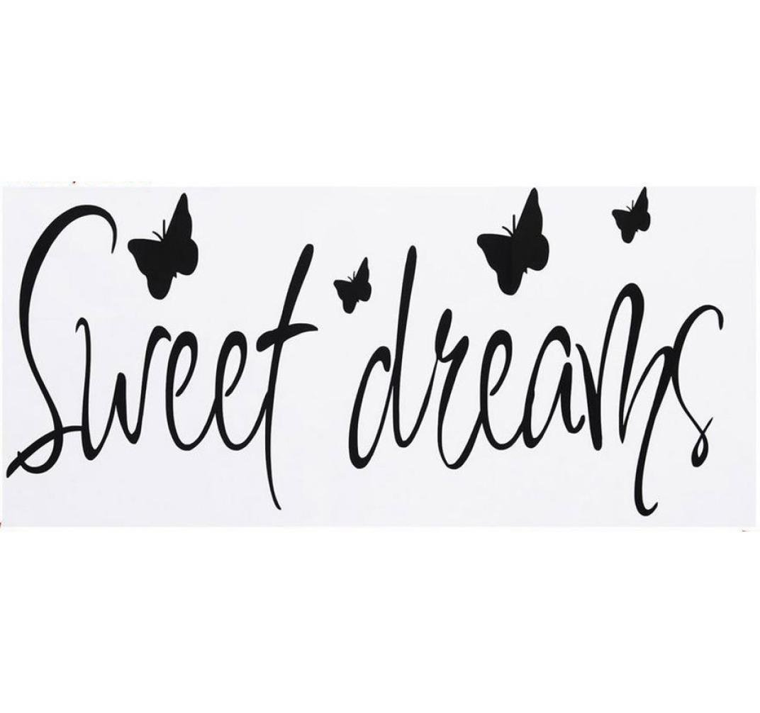 Rumas PVC Removable Wall Sticker Decal Sweet Dreams Decal Bedroom Home Decor