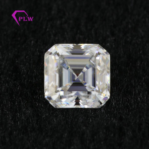 DEF VVS color Asscher cut moissanite diamond excellent cut loose stone for jewelry