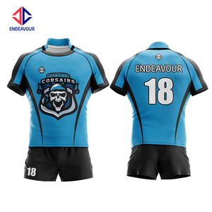 High quality sublimated training rugby shorts jersey