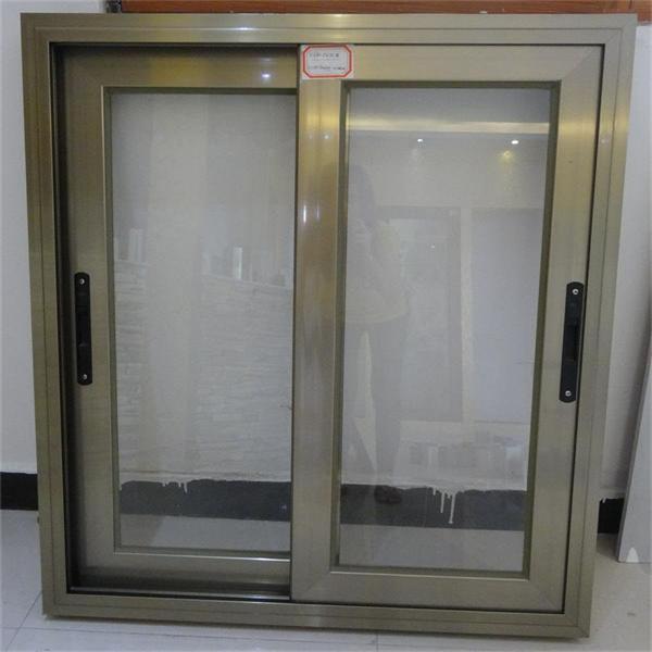 De color champ n de aluminio ventana deslizante marr n for Ventanas de aluminio cordoba