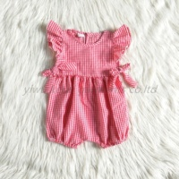 online Wholesale infants lovely clothing dress one pieces boutique spaghetti strap cartoon colorful frock