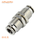 PM pneumatic brass copper bulkhead union straight quick connect air fitting connector
