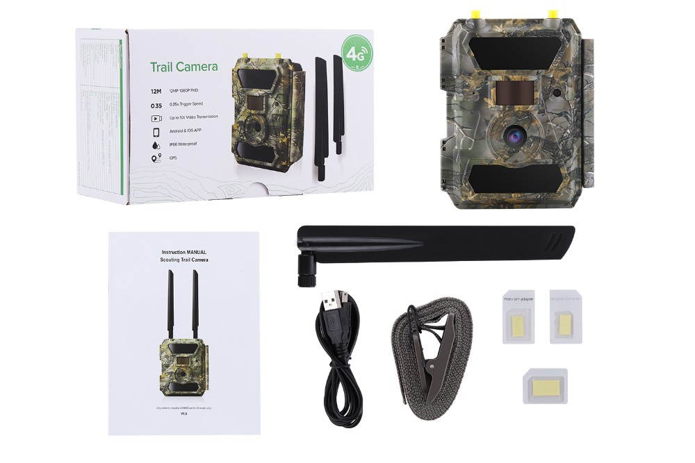 Stealth Cam Night Vision No Flash Outdoor Motion Trail GSM 3G 4G Digital Hunting Camera Trap
