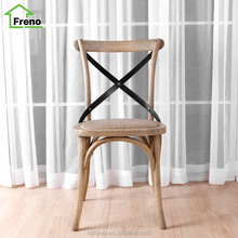 Wedding Banquet Wooden White cross back dining chair